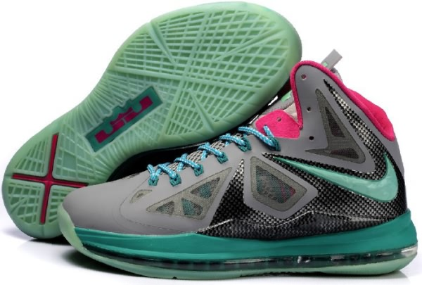 Nike Air Max LeBron James X gray/Lune/Rose Chaussures de basket