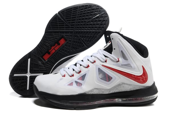 Nike Air Max LeBron James X blanc/Noir/Chaussures de basket-Rouge