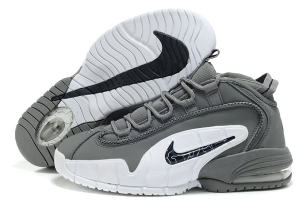 Chaussures de basket-ball Nike Air Max Penny Hardaway 1 gray/blanc
