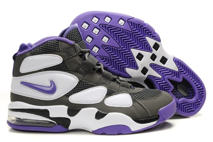 Nike Air Max Uptempo 2 Duke Sneakers de basket-ball en blanc/gray/violet