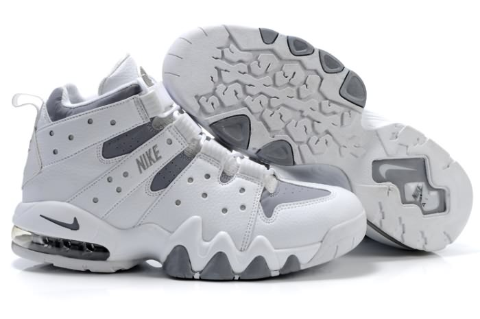 Nike Air Max2 CB 94 Charles Barkley Chaussures Basket-ball de l'espadrille en blanc/gray