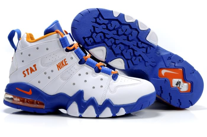 Nike Air Max2 CB 94 Charles Barkley Chaussures Basket-ball de l'espadrille en blanc/orange/bleu