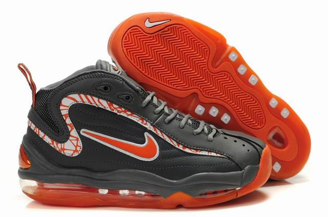 Nike Air Max Total de gray Uptempo/Chaussures hommes rouges