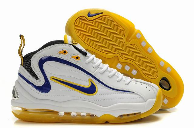 Chaussures Nike Air Max Total Uptempo Blanc/Bleu Royal/Jaune Hommes
