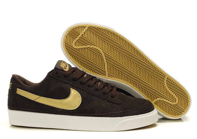 Nike Blazer Bas ND Homme Chaussure Brun Or