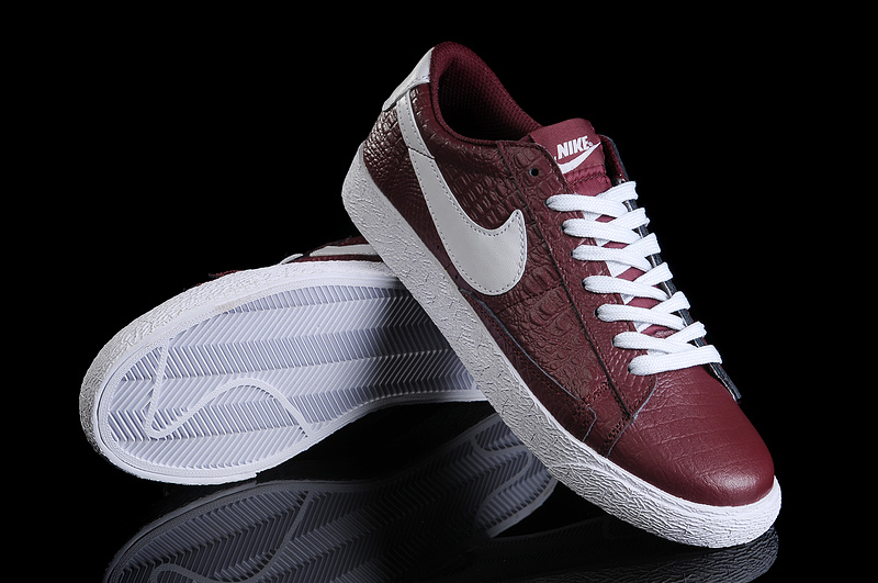 Nike Blazer Bas VNTG NRG Chaussure In Profond Rouge