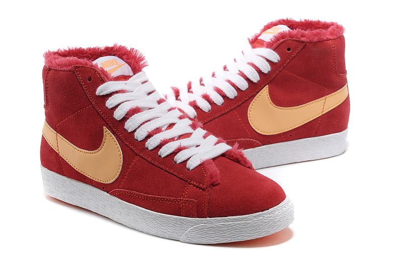 Nike Blazer Femme Vintage Suede Wool Rouge Orange