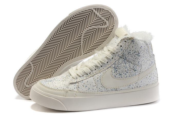Nike Blazer Haut Femme Flowers Fur For Winter Style Bleu