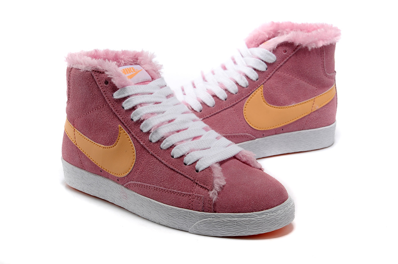 Nike Blazer Milieu Femme Vintage Suede Wool Rose Orange