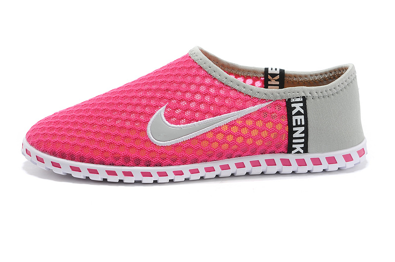 Nike Chaussures plates femme rose gris KDLP0109