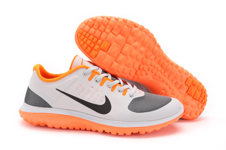 Nike Free Run 5.0 V3 2014 Hommes Blanc Orange KDLP0096