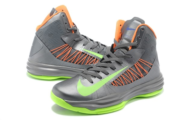 Nike Lunar Hyperdunk x 2012 LeBron James gray/Vert/Orange Chaussures de  basket-ball
