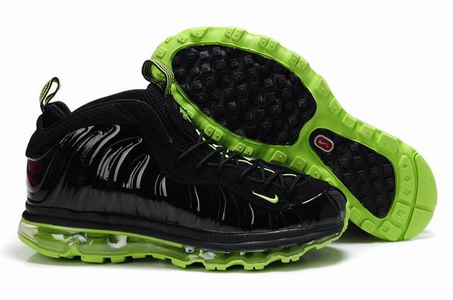 Nike Penny Hardaway + Air Max 2009 Chaussures Glossy Noir/Green