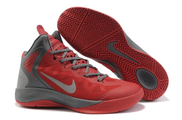 Nike Zoom Hyper force PE 2012 Blake Griffin Chaussures Basketball gray/Rouge