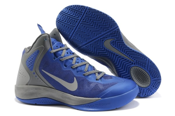 Nike Zoom Hyper force PE 2012 Blake Griffin Chaussures Basketball gray/Bleu Royal