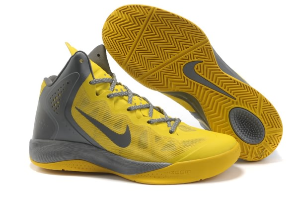 Nike Zoom Hyper force PE 2012 Blake Griffin Chaussures Basketball gray/Jaune