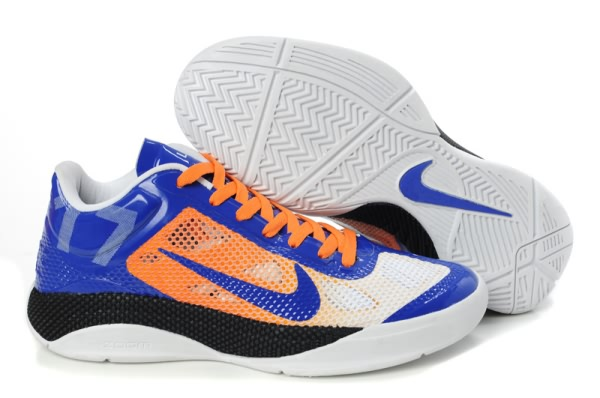 Nike Zoom Hyperfuse Chaussures basses Blanc/Bleu Royal/Orange