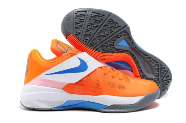 Chaussures de basket Nike Zoom Kevin Durant KD 4 orange/blanc