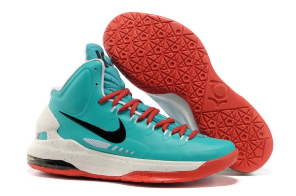 Chaussures Basket-ball Nike Zoom Kevin Durant KD V vert/blanc/rouge