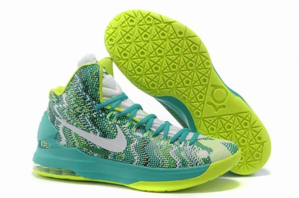 Chaussures de basket-ball Nike Zoom Kevin Durant KD V Vert/Blanc