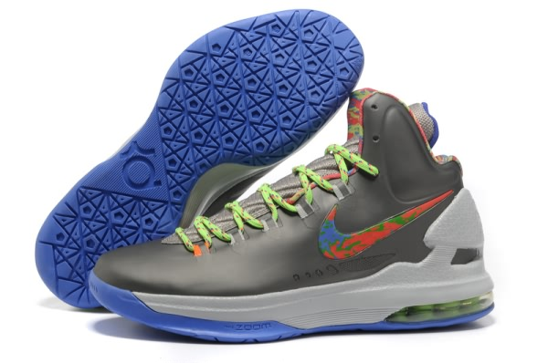 Chaussures de basket-ball Nike Zoom Kevin Durant KD V gray/Colorful