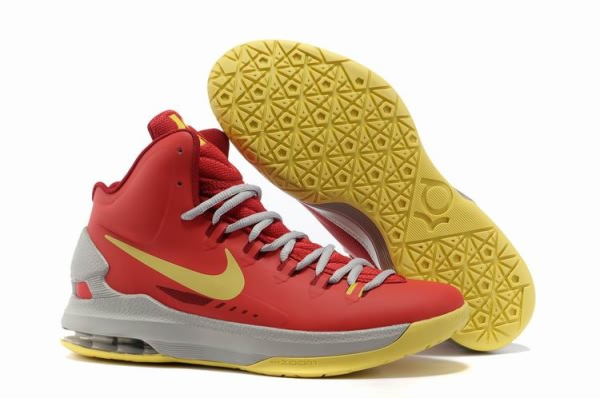 Chaussures Basket-ball Nike Zoom Kevin Durant KD V orange/jaune