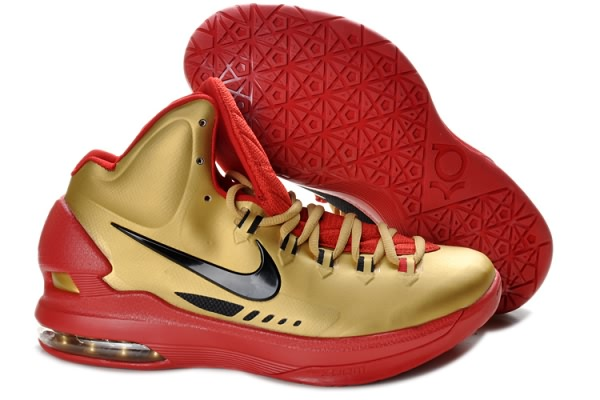 Chaussures Basketball Nike Zoom Kevin Durant KD V rouge/noir/or