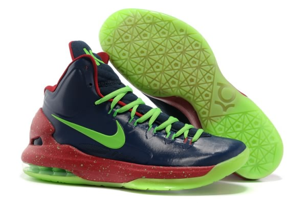 Chaussures Basketball KD V Night Light Nike Zoom Kevin Durant KD V Noir/fluorescence verte