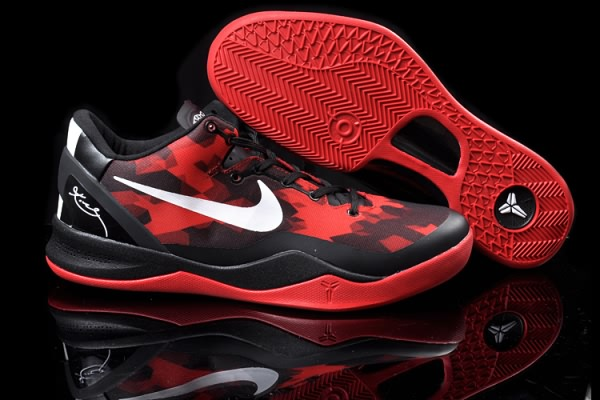 Nike Zoom Kobe VIII 8 ELITE Noir Red Basketball Chaussure-fc