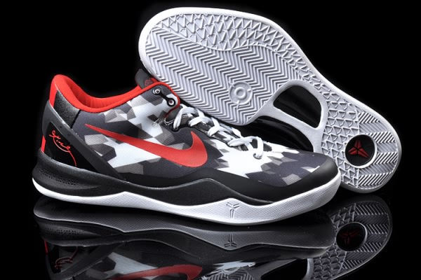 Nike Zoom Kobe VIII 8 ELITE Noir blanc Red Basketball Chaussure-H8