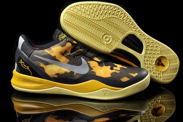 Nike Zoom Kobe VIII 8 ELITE Noir Yellow Basketball Chaussure-JA