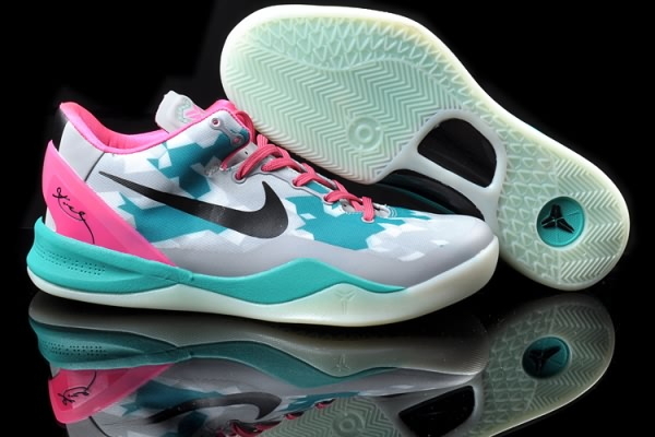 Nike Zoom Kobe VIII 8 ELITE Grey Moon Pink Basketball Chaussure-ti
