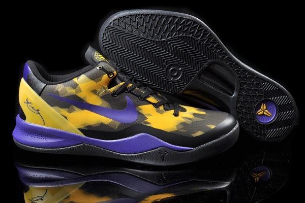 Nike Zoom Kobe VIII 8 ELITE Purple Yellow Basketball Chaussure-uj