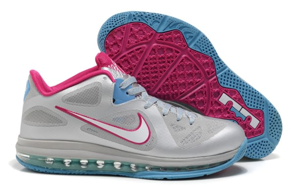 Nike Zoom LeBron 9 Chaussures de basket Low South Beach Argent/Rose
