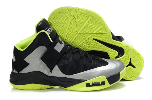 Nike Zoom LeBron James Soldier VI Noir/Vert Chaussures de basket-ball