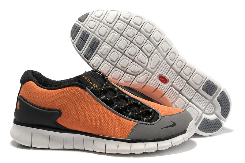 Nike Footscape gratuite Hommes Noir gray Orange