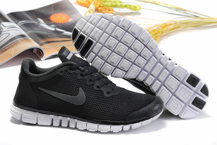 Nike Free 3.0 Hommes Noir Chaussures gray