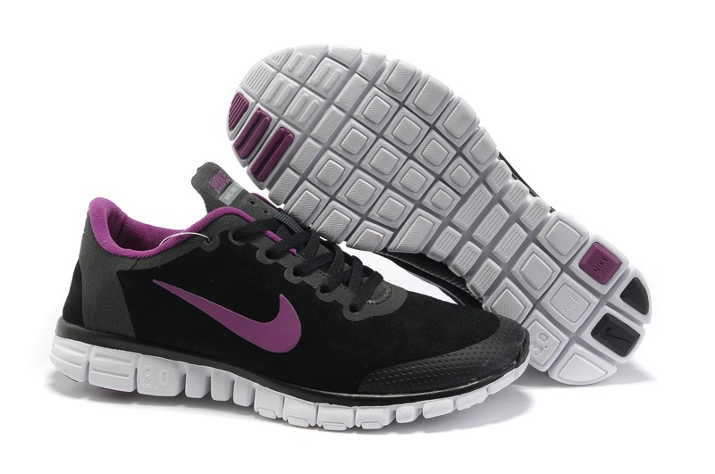 Nike Free 3.0 Hommes Noir Chaussures Violet