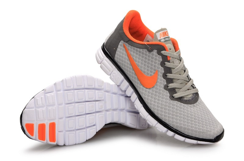 Nike Free 3.0 V2 Femmes gray Orange Rouge