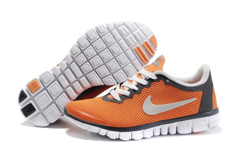 Nike Free 3.0 V2 Femmes Rouge Orange gray