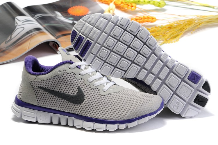 Nike Free 3.0 Femmes Chaussures Violet Light Gray