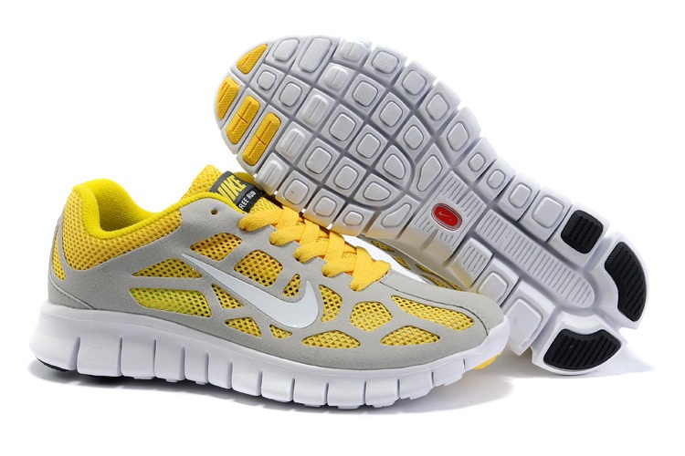 Nike Free 3.0 Femmes Chaussures Yellow Light Gray
