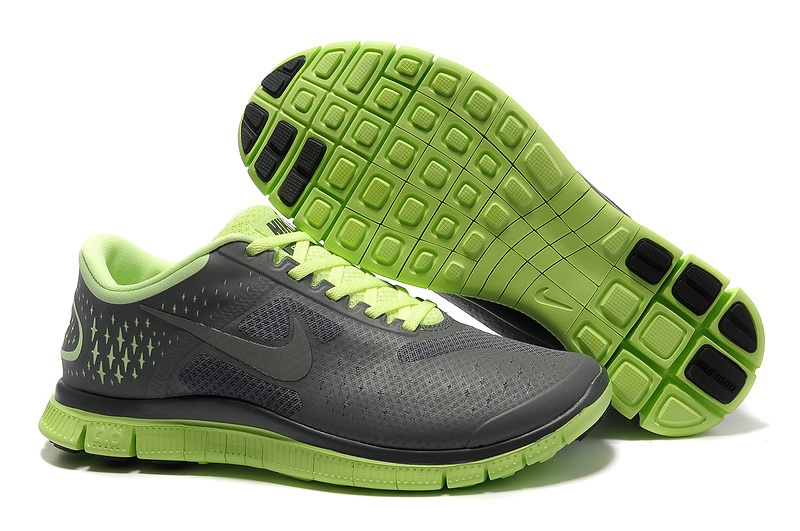 Nike Free 4.0 V2 gray Vert Chaussures de course