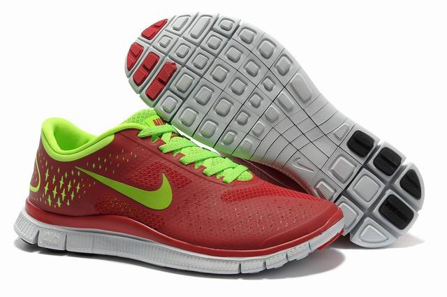 Nike Free 4.0 V2 Rouge Vert Chaussures de course