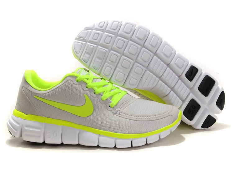 Nike Free 5.0 V4 Chaussures Couple gray Vert