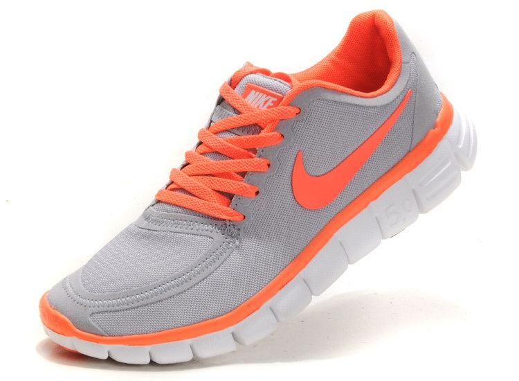 Nike Free 5.0 V4 Chaussures couple gray orange