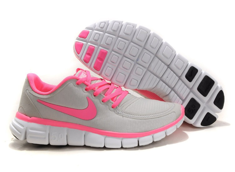 Nike Free 5.0 V4 Chaussures Couple gray Rose