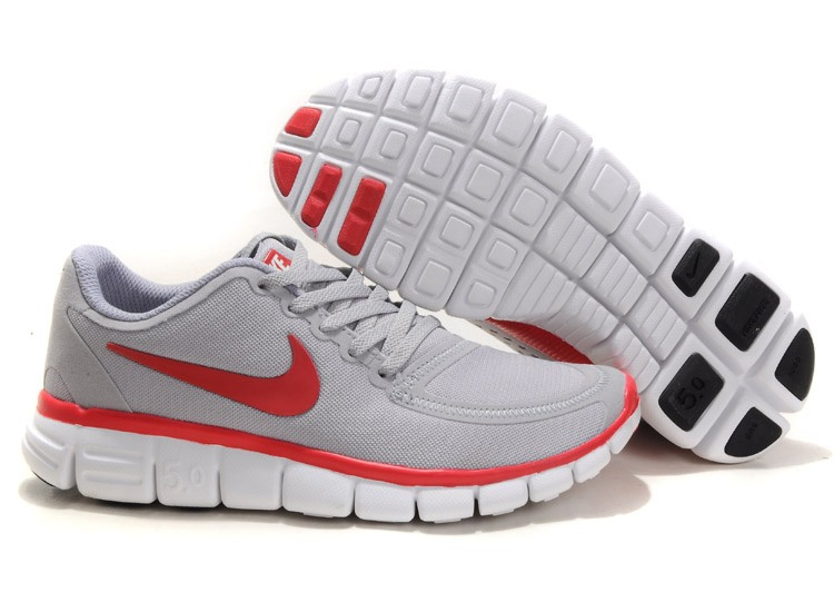 Nike Free 5.0 V4 Chaussures Couple gray Rouge