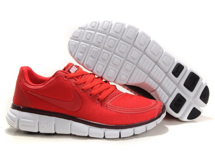 Nike Free 5.0 V4 Chaussures couple Rouge