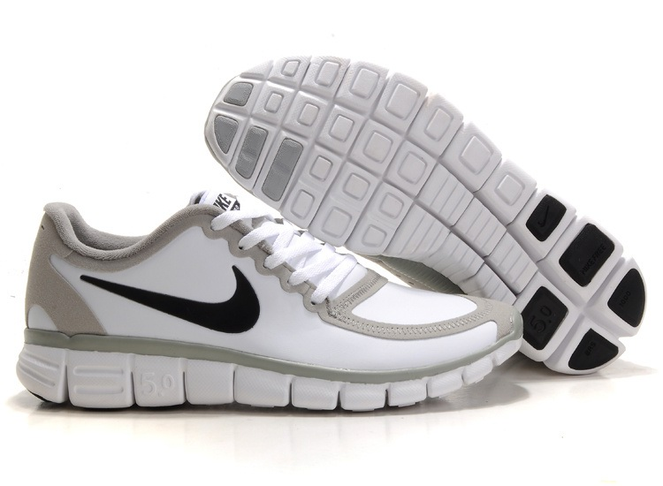 Nike Free 5.0 V4 Hommes Chaussures de course gray/Blanc